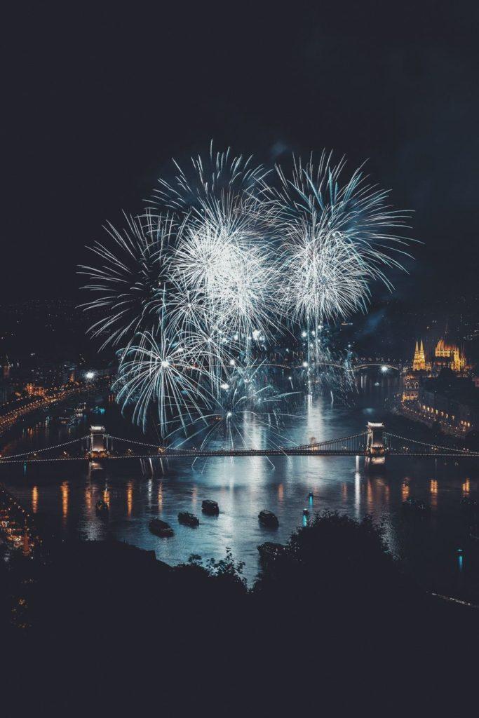 Vivid night life Budapest